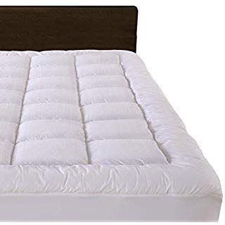 Cloudream Queen Overfilled Mattress Pad Cover 8 22 Deep Pocket 300tc Snow Down Alternative Pillow Top M Mattress
