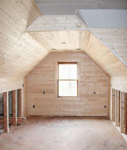 Transforming An Unused Attic Into An Amazing Office Space Attic Remodel Attic Renovation Attic Apartment
