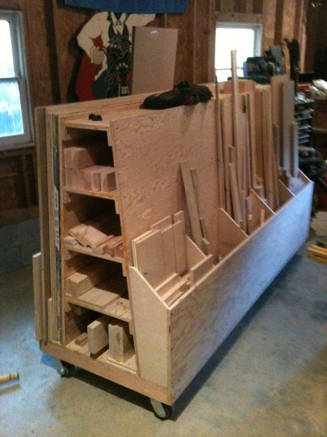 Roll Around Wood Cart Plans Work Lumber Storage