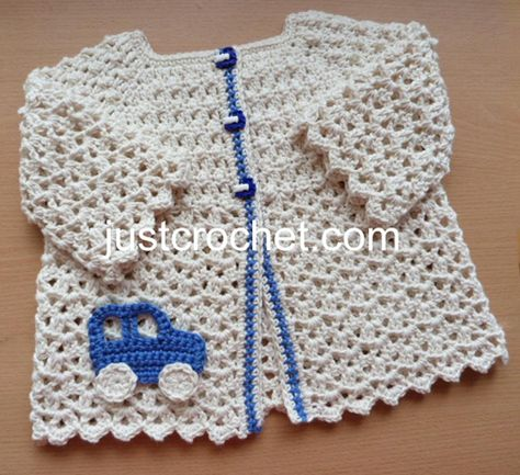 fjc140-Cotton Summer Cardigan Baby Crochet Pattern | Craftsy