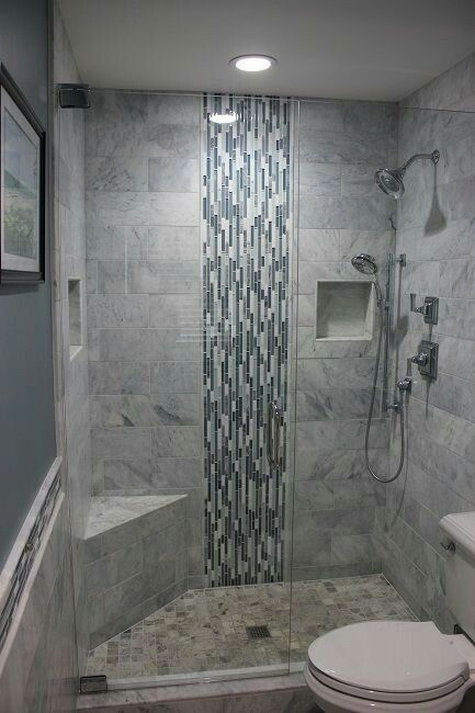 I Like The Waterfall Effect Of The Tile Only Behind The Shower