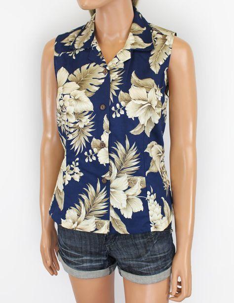272f759d0329 Molokai Design Sleeveless Tropical Blouses : Hawaiian Wedding Place # sleeveless #floral