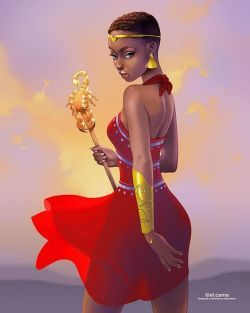 Black Women Art Scorpio By El Carna Black Girl Art Black Girl Art Cartoon Black Women Art