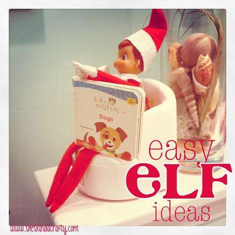 She's {kinda} Crafty: Easy {Elf} Ideas