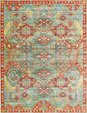 Luxury Traditional Vintage Modern Rugs 9 X 12 Ft Green Troy Collection Area Rug Magnificent Living Room Dinning Room Sitti Aqua Rug Area Rugs Vintage Area Rugs