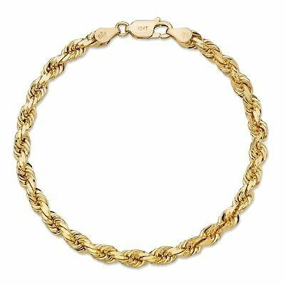 Ebay Advertisement Rope Chain Solid 10k Yellow Gold Bracelet 7 5mm In 2020 Yellow Gold Bracelet Gold Bracelet 10k Gold Chain