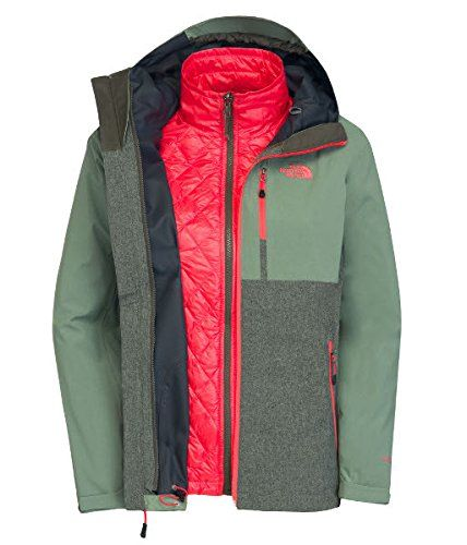 6a35d34d043a8 The North Face ThermoBall Triclimate Jacket Womens New Taupe Green  HeatherSea Spray Green L -- You can get additional details at the image  link.