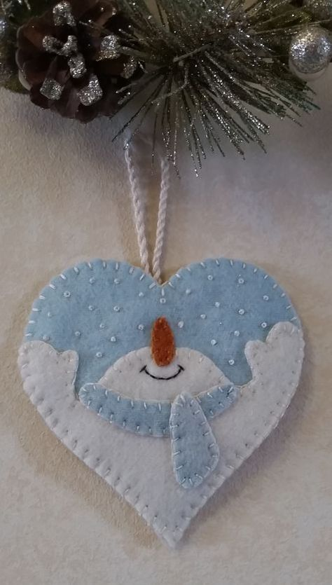 Let It Snow Heart Ornament pattern. Cath's Pennies Designs
