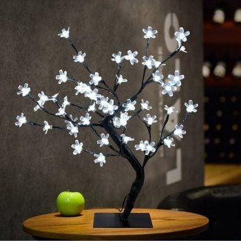 0 45m 17 72inch 48leds Cherry Blossom Desk Top Bonsai Tree Light Perfect For Home Festival Party Wedding Tree Lamp Fairy Lights Tree Lighting
