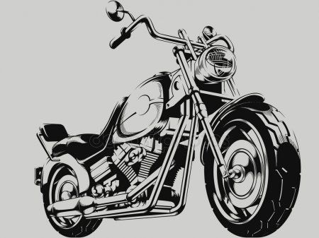 Vintage Motorcycle Vector Silhouette Stock Vector Affiliate