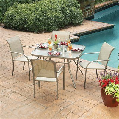 Garden Treasures Driscol 5 Piece Outdoor Dining Set From Lowes | Patios |  Pinterest | Outdoor Dining, Dining Sets And Patios