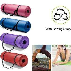 Details About 15mm Thick Yoga Mat Exercise Fitness Pilates Camping Gym Meditation Pad Non Slip Pilates Workout Mat Exercises Thick Yoga Mats