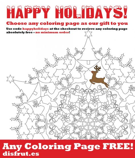 Happy Holiday Choose Any Coloring Page For Free Disfrutes