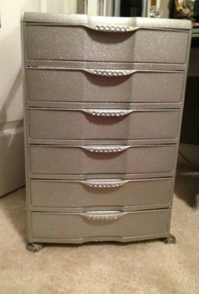 Easy Diy Dorm Decor You And Your Roommate Can Pull Off In 2020 Makeup Storage Drawers Diy Vanity Plastic Drawers