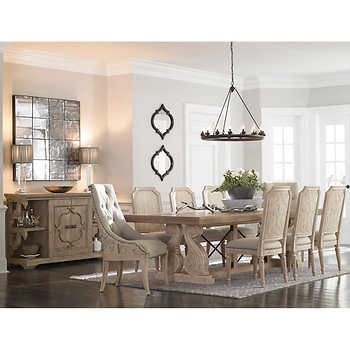 Thornton Hill 10 Piece Dining Set Includes Table 2 Arm Chairs 6