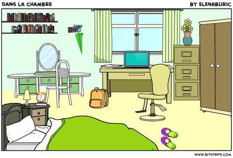 Dans la chambre. Image à toucher