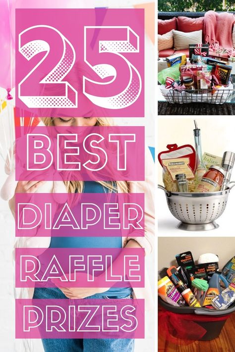 Baby Shower Gifts For Guests, Baby Shower Game Gifts, Shower Hostess Gifts, Baby Shower Prizes, Baby Shower Diapers, Babyshower Prize Ideas, Shower Party, Raffle Gift Basket Ideas, Raffle Ideas