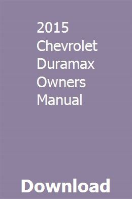 2015 Chevrolet Duramax Owners Manual With Images Chilton Repair Manual Owners Manuals Chevrolet Optra
