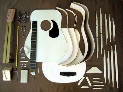Hosco Gr Kit D2 Acoustic Guitar Kit Mahogany Back Side Acoustic Guitar Kits Guitar Kits Acoustic Guitar