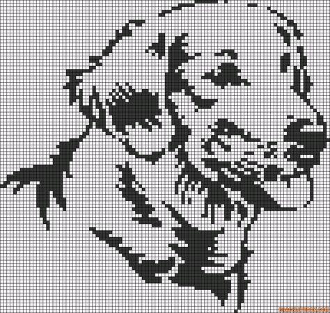 Labrador Dog Perler Bead Pattern Pixel Art Point De