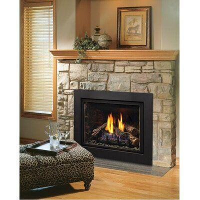 Kingsman Fireplaces Direct Vent Natural Gas Propane Fireplace Insert Wayfair Ca In 2020 Propane Fireplace Gas Fireplace Logs Gas Fireplace Insert