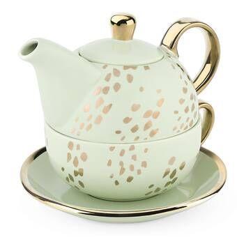 Aldery 3 Piece Stoneware Me You And A Cuppa Tea Tea Set Ceramic Tea Set Tea Pots Tea Set
