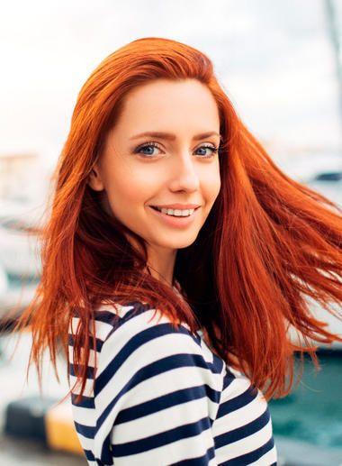 Rot färben blond Haare färben