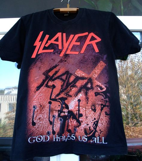 1c06a4d64a29a9 Slayer God Hates Us Album cover art All PK SPORTS t-shirt vintage cotton  size M black by shirtsforeveryone17 on Etsy