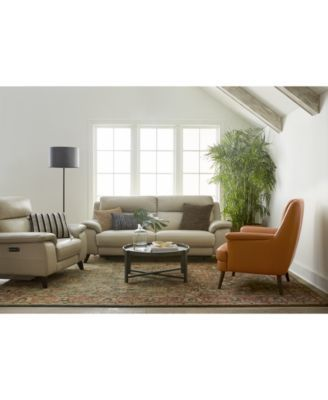 """Furniture Milany 9"""" Leather Power Reclining Sofa with Power"""