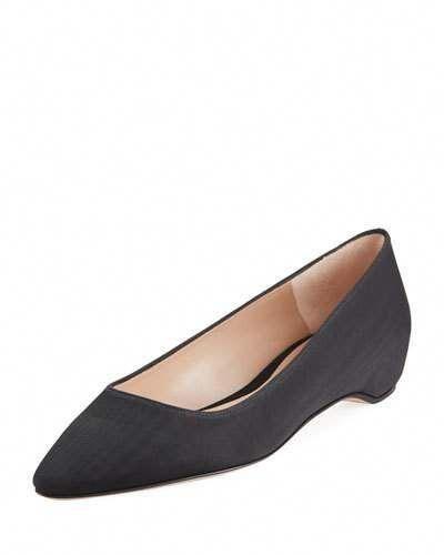 02d7daf44 STUART WEITZMAN JULIE GROSGRAIN FLAT SKIMMER. #stuartweitzman #shoes ...