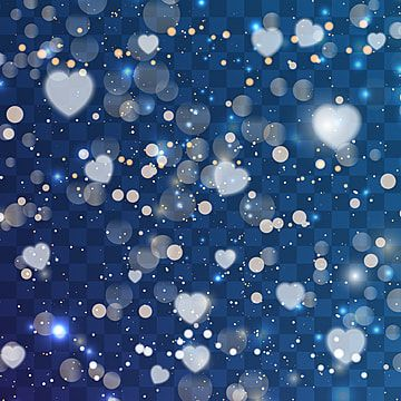 Dark Blue Bokeh Heart Background Valentine 14 February Background Png And Vector With Transparent Background For Free Download Heart Background Blue Bokeh Pink Heart Background