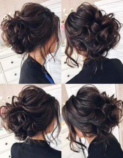 42 Ideas For Wedding Hairstyles Messy Updo Chignons Wedding Hairstyles Updo Messy Long Hair Updo Wedding Hair Inspiration