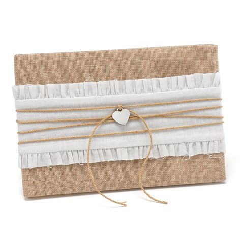Rustic Romance Guest Book | #exclusivelyweddings | #burlap