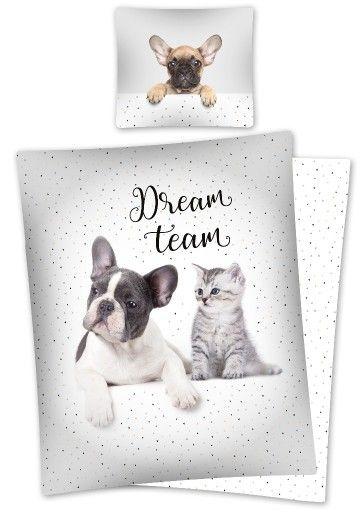 Posciel 140x200 Kot Pies Kon Wzory 7245906291 Oficjalne Archiwum Allegro French Bulldog Bulldog Animals