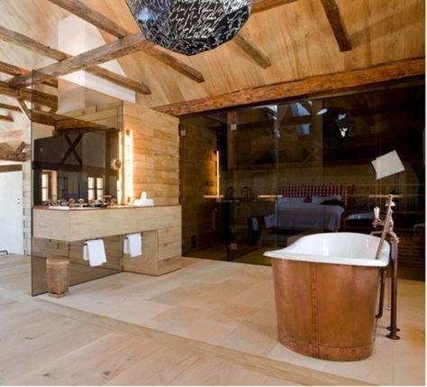 La salle de bain et le style chalet rustique | Déco | Pinterest ...