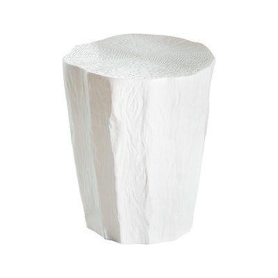 Fine Global Views Trunk Garden Stool Color White Products Machost Co Dining Chair Design Ideas Machostcouk