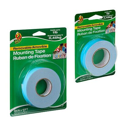 Details About Duck Brand Removable Mounting Double Sided Foam Tape