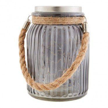 Lampa Ogrodowa Blooma Sloik Z Micro Led Ip44 Szara Beer Steins Glassware Decorative Jars