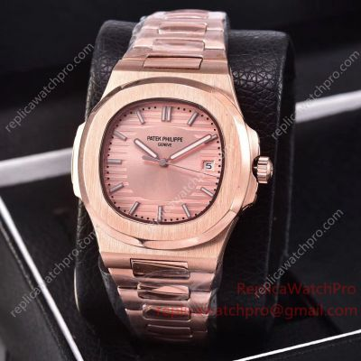Patek Philippe Nautilus Copy Watch All Rose Gold New Arrivals