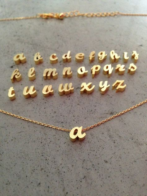Hey, I found this really awesome Etsy listing at https://www.etsy.com/listing/176850899/lower-case-initial-necklace-gold-initial