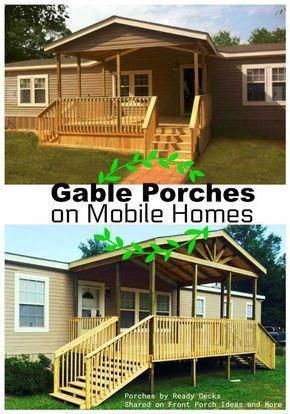 When The Flowers Dress The Walls Mobile Home Porch Porch Design