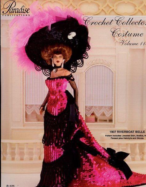 1911 Trousseau Tea Gown for Barbie Paradise #111 Crochet PATTERN NEW