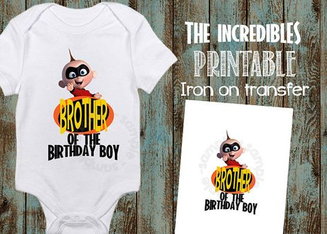 Printable The Incredibles Brother Iron On Transfer Of Birthday Boy T Shirt