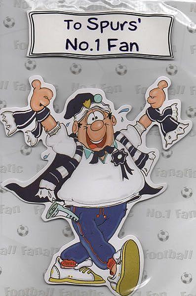 To Spurs No 1 Fan Handmade Card Birthday Cards Football Birthday Cards