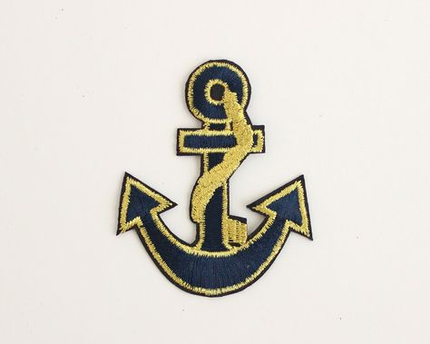 Nautical marine anchor rope w vip embroidery iron on applique