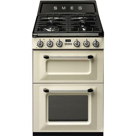 Cocina Smeg Tr62p Crema 60cm 4f Gas Cocina De Gas Cocinas Cocina Electrica