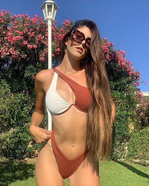 Two Tone Rib Underwire Bikini Swimsuit