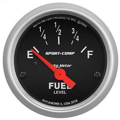 Details About Autometer 3316 Sport Comp Electric Fuel Level Gauge