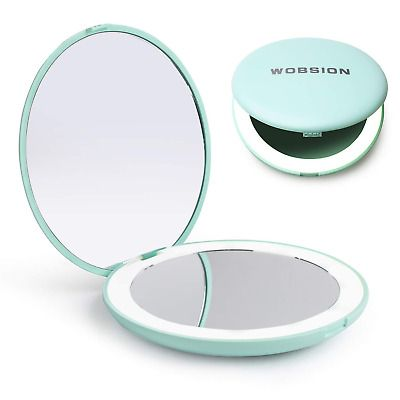 Advertisement Wobsion Led Lighted Travel Makeup Mirror 1x 10x Magnification Compact Mirror P In 2020 Travel Makeup Mirror Makeup Mirror Travel Makeup
