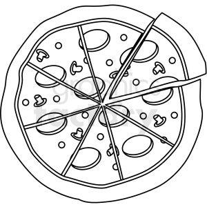 Pizza Outline Clip Art Outline Alphabet Worksheets Preschool